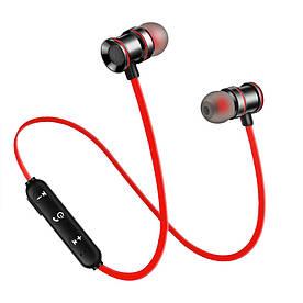 Беспроводные спортивные Bluetooth 5.0 наушники-гарнитура с микрофоном Athlete series XT-10 красные