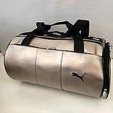 Сумки универсальные кожвинил Puma (черный)23*44см, фото 4