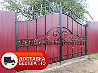 Ковані ворота з профнастилом