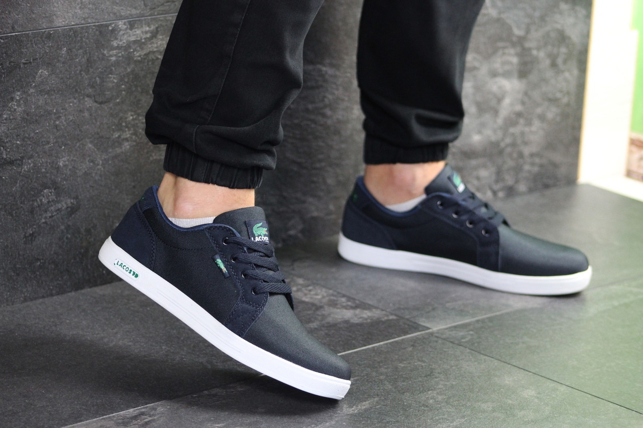 Мужские кроссовки Lacoste (темно-синие)