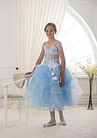Легкое и нежное детское платье с лилиями и кристаллами