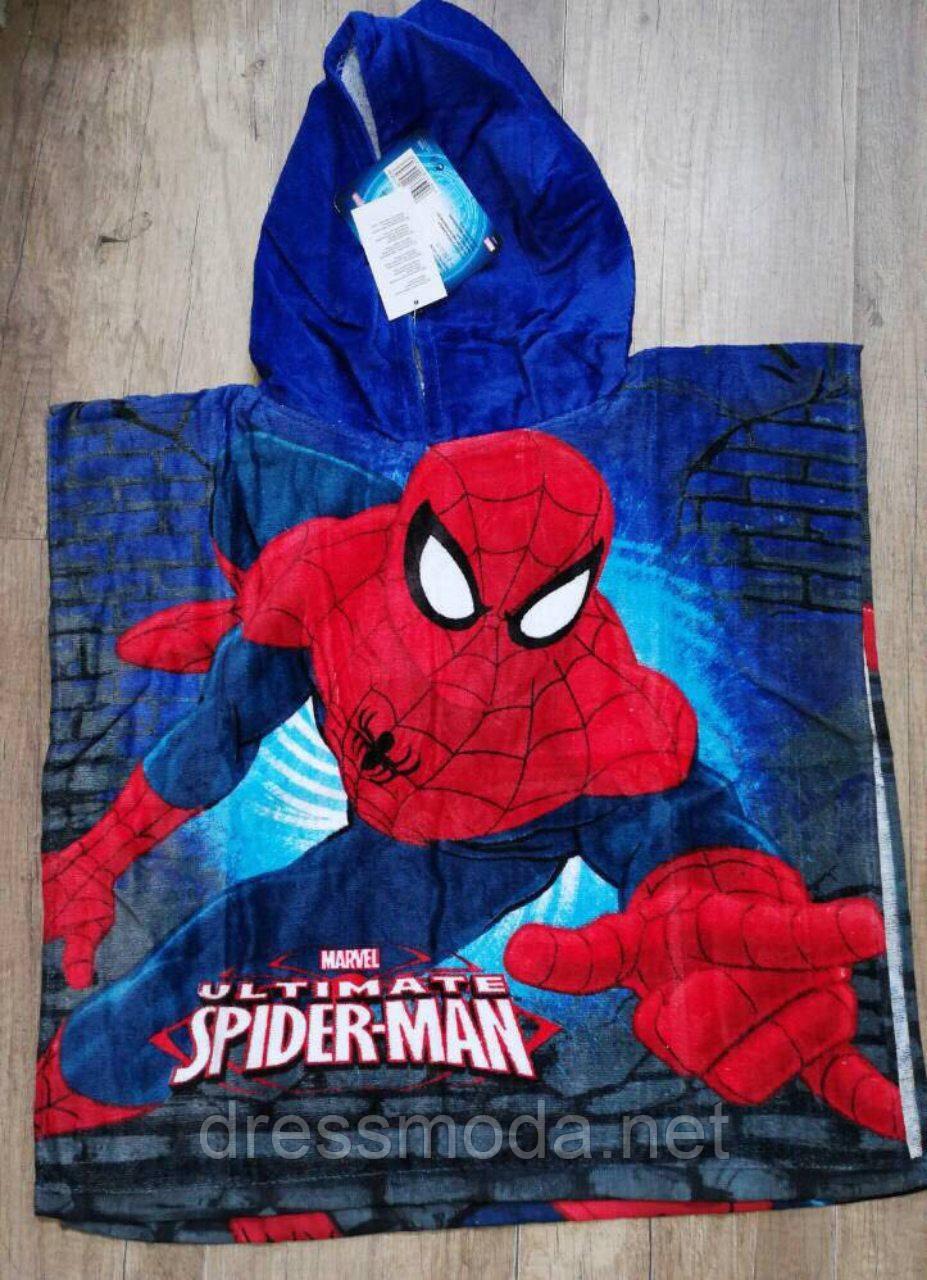Полотенце-пончо для мальчиков Spider-man 55/110 р.