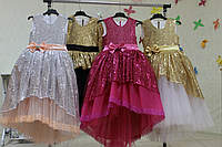 Нарядное платье на девочку с пайетками