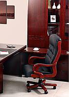 Кресло Президент 02, Кожзам Черный (6243 Black PU+PVC) (AMF-ТМ)