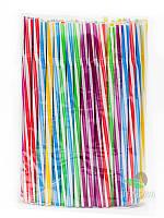 Трубочка фреш коктейльная цветная, витая с гофрой, d8, 25 см, 100 шт