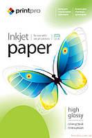Фотобумага PrintPro глянец 180г/м, A4, 50л PG180-50