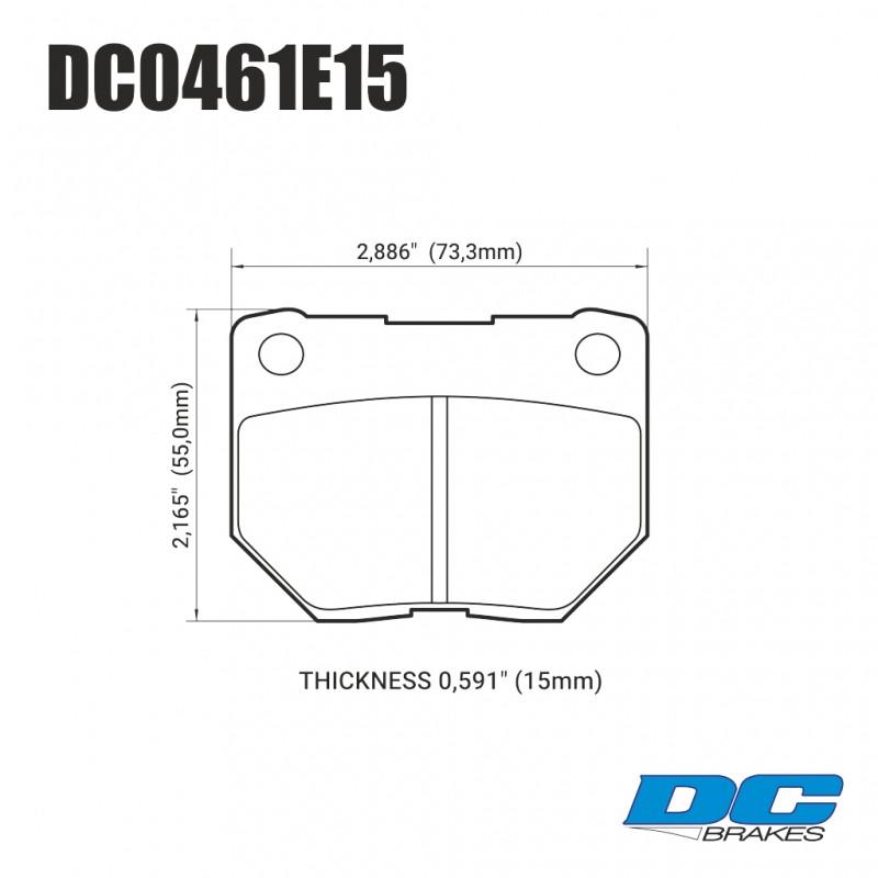 Колодки тормозные задние DC0461E15 DC Brakes RT.2  SUBARU Impreza WRX