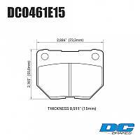 Колодки тормозные задние DC0461E15 DC Brakes RT.2  SUBARU Impreza WRX, фото 1
