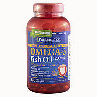 Рыбий жир Puritans Pride Omega 3 Double Strength 180 к