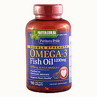 Рыбий жир Puritans Pride Omega 3 Double Strength 90 к