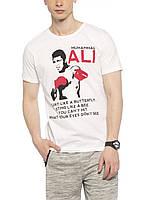 Белая мужская футболка Lc Waikiki / Лс Вайкики Muhammad Ali, фото 1