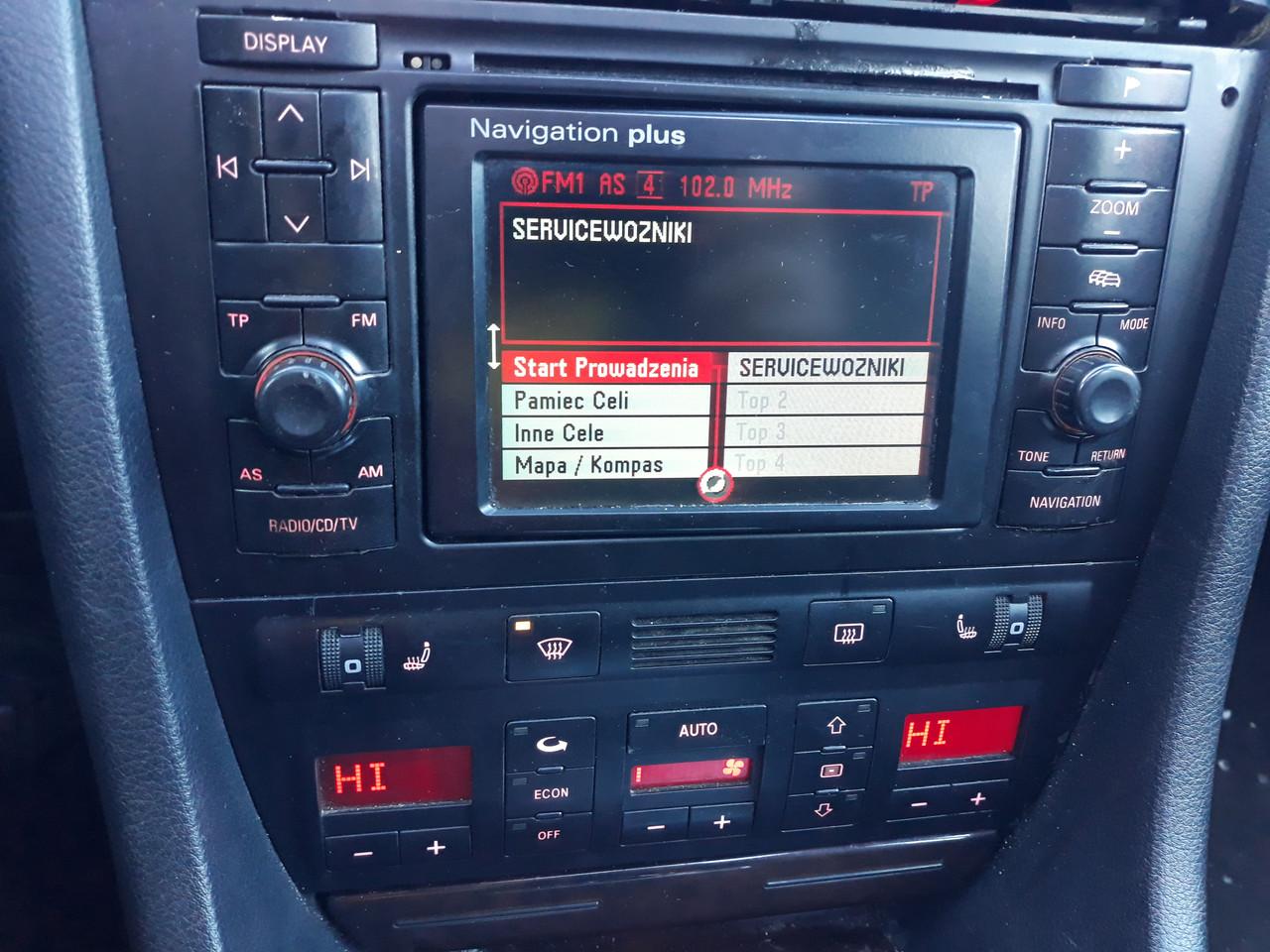 Центральная консоль 2din audi a6 c5 navigation plus в сборе ауди а6 с5