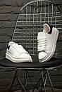 Кроссовки женские мужские Alexander McQueen Black/White, фото 4