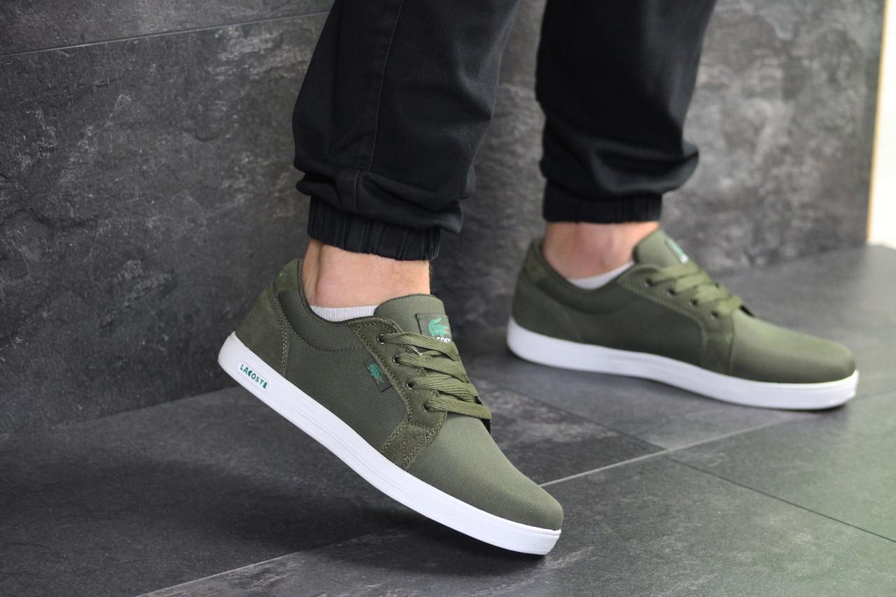 Мужские кроссовки Lacoste (темно-зеленые)