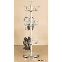Вертикальная стойка для обуви Onder Metal «SR-1061-C» хромированная