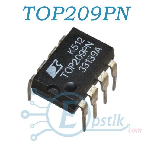 TOP209PN, PWM контроллер, 85-265V, DIP8