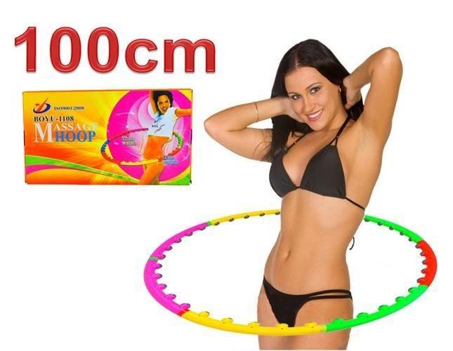 Масажний обруч складний, гімнастичний хулахуп 100см, фото 1