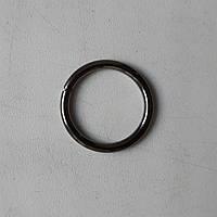 Кільце металеве зварне 20 мм чорний нікель