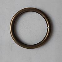 Кольцо литое сварное 31 мм антик