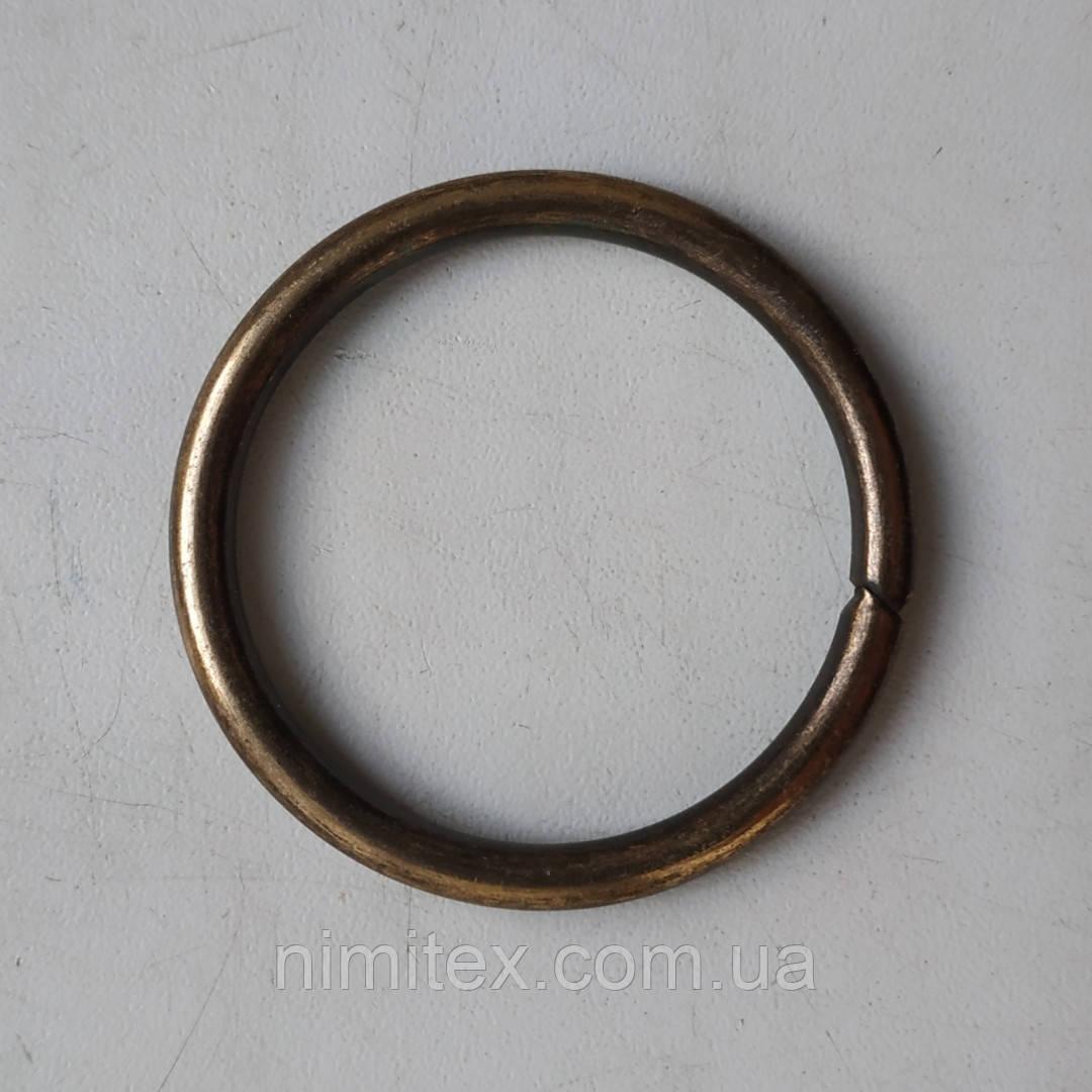 Кільце металеве зварне 39 мм антик