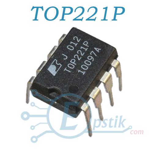 TOP221P, AC-DC ШИМ контроллер, DIP8