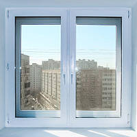Окно металлопластиковое двухстворчатое STEKO