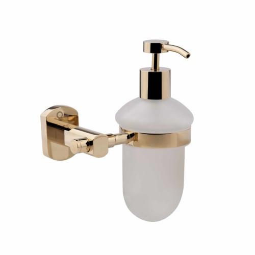 Дозатор для жидкого мыла на стену QT Liberty ORO 1152 цвет золото