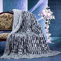 Пушистое покрывало одеяло травка цвет серый