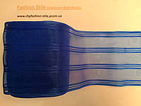 Бант капроновый,цвет василек 24 м в рулоне,ширина 9см