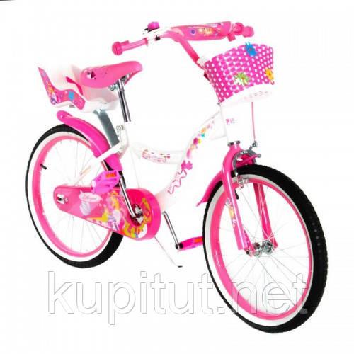 Велосипед двухколесный 20 SW-17014-201 розовый с корзинкой