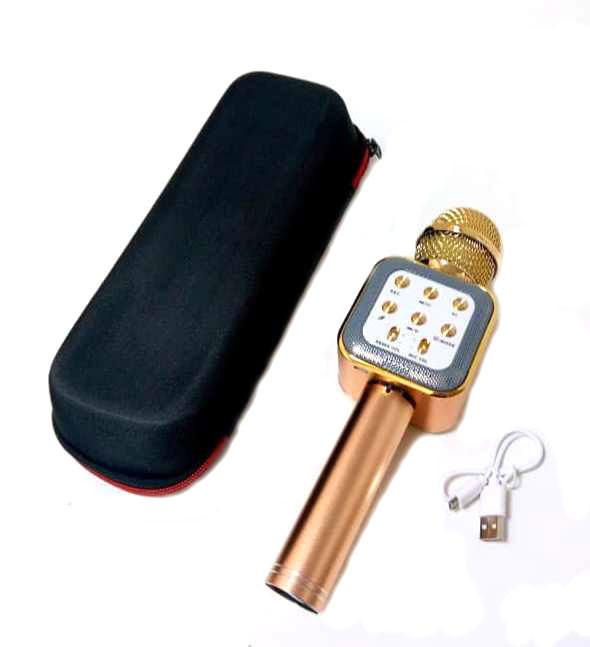 Беспроводной Bluetooth караоке-микрофон с функцией колонки DM Karaoke WS1818