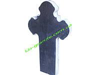 Об'ємний хрест на могилу із чорного граніту