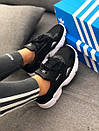 Кроссовки черные женские Adidas Falcon , фото 3