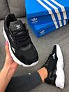 Кроссовки черные женские Adidas Falcon , фото 8