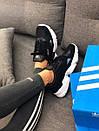 Кроссовки черные женские Adidas Falcon , фото 6