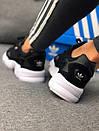 Кроссовки черные женские Adidas Falcon , фото 9