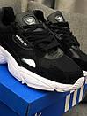 Кроссовки черные женские Adidas Falcon , фото 10