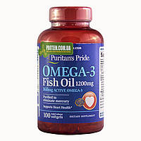 Рыбий жир Puritan's Pride OMEGA-3 FISH OIL 1200 мг 100 капс