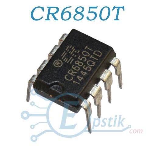 CR6850T, ШИМ контроллер, DIP8