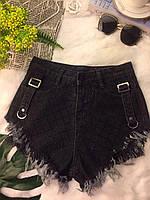 Женские джинсовые шорты с ремешками по бокам