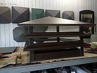 Колпак на дымоходы и мангалы (ruukki 0.5 мм) 520*520 с отражателем из нержавейки.