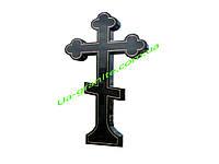 Об'ємний хрест на цвинтар із чорного граніту