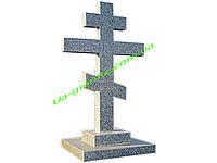 Об'ємний хрест на могилу із покоствського граніту