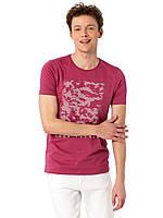 Розовая мужская футболка Lc Waikiki / Лс Вайкики с надписью LOOK FORWARD
