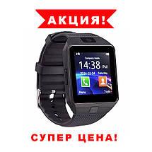 Умные смарт часы, Smart Watch DZ-09 чёрные плюс USB LED. Smart часы, фото 3