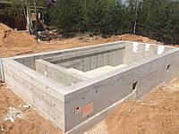 Строительство бетонной чаши бассейна