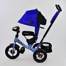 Дитячий триколісний велосипед з пультом Best Trike 7700 B 1745 поворотне сидіння, надувні колеса