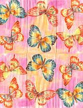 Салфетки декупажные Бабочки на розовом фоне 4611