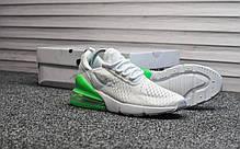 """Кроссовки Nike Air Max 270 """"Белые\Зеленые"""", фото 3"""