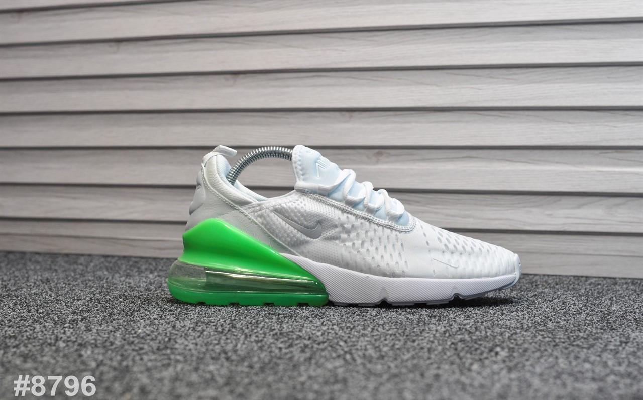 """Кроссовки Nike Air Max 270 """"Белые\Зеленые"""""""